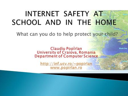 What can you do to help protect your <strong>child</strong>?.  Part I Why is the issue of Internet safety so important ?  Part II Why schools take their role seriously.