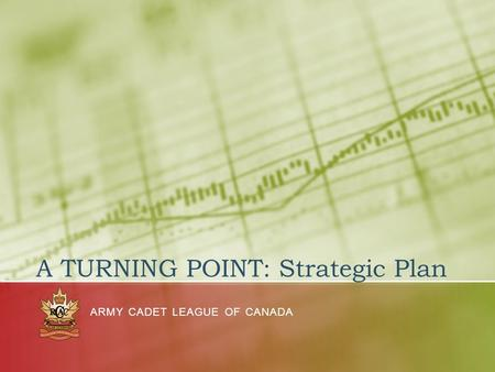 A TURNING POINT: Strategic Plan ARMY CADET LEAGUE OF CANADA.