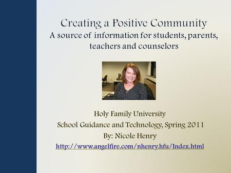 Introduction Video Slide Content Links What is School Bullying? What to know about Cyberbulling Social Networking & the Effects of Cyberbullying FaceBook.