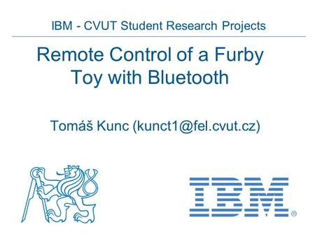 Remote Control of a Furby Toy with Bluetooth