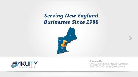 This is the best Power Point Template ever. It comes with over 5 styles of colors and include lots of features. Serving New England Businesses Since 1988.