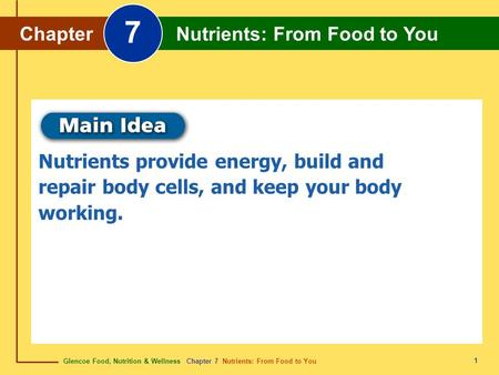 7 Chapter Nutrients: From Food to You