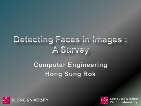 Introduction Detecting Faces in a Single Image –Knowledge-Based Methods –Feature-Based Methods –Template Matching –Appearance-Based Methods Face Image.