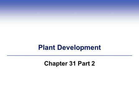 Plant Development Chapter 31 Part 2. 31.4 Adjusting the Direction and Rates of Growth  Tropisms Plants adjust the direction and rate of growth in response.