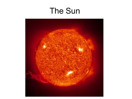 The Sun. 99% of the matter of the solar system is in the Sun. The Sun is an Average Star (main sequence star) The sun is not a Binary Star. (most stars.