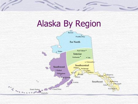 Alaska By Region. Southwest Alaska Made up of the Aleutian and Pribilof Islands, the Kodiak Island group, and the Alaska Peninsula. Land is grassy tundra.