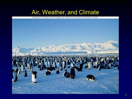 Air, Weather, and Climate