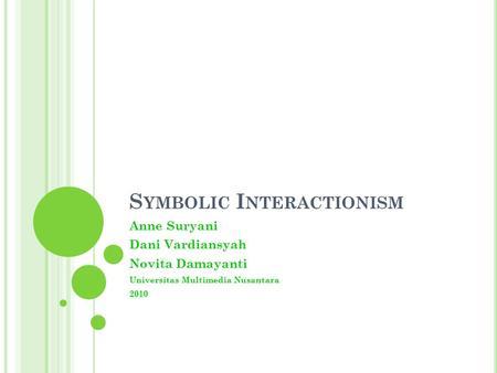 Sembolic interactionism