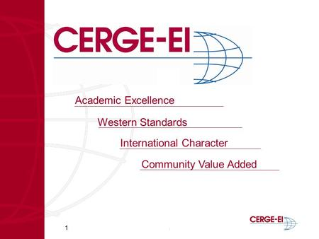 1 Academic Excellence Western Standards International Character Community Value Added.
