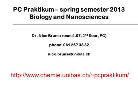 biology 2013 spring semester project