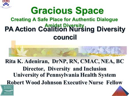Gracious Space Creating A Safe Place for Authentic Dialogue Amidst Diversity Gracious Space Creating A Safe Place for Authentic Dialogue Amidst Diversity.