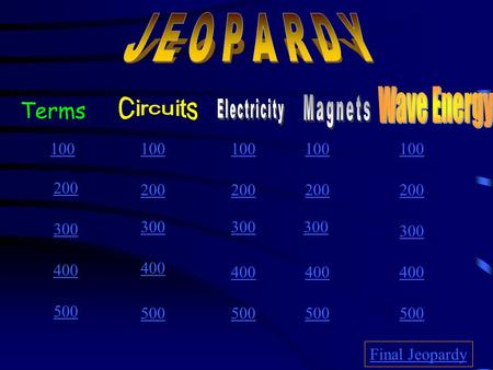 100 200 300 400 500 100 200 300 400 500 Final Jeopardy Terms.