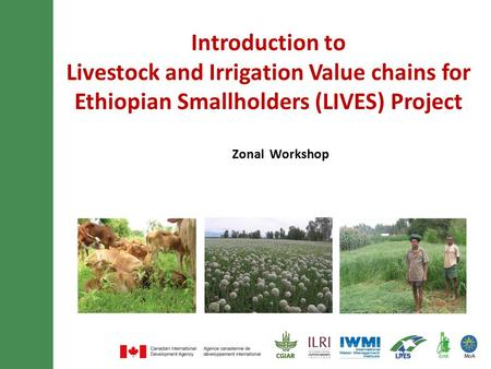 Introduction to Livestock and Irrigation Value chains for Ethiopian Smallholders (LIVES) Project Zonal Workshop.