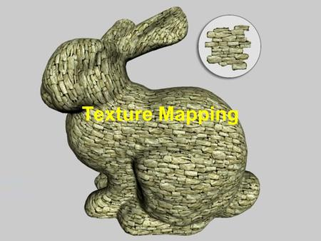 David Luebke 1 9/13/2015 Texture Mapping. David Luebke 2 9/13/2015 Recap: Texture Map Rendering ● Rendering uses the mapping: ■ Find the visible surface.