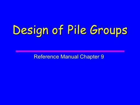 Reference Manual Chapter 9