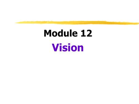 Module 12 Vision.  Transduction  conversion of one form of energy to another  in sensation, transforming of stimulus energies into neural impulses.