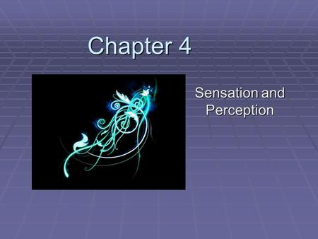Chapter 4 Chapter 4 Sensation and Perception. Section 1 Sensation and Perception: The Basics.