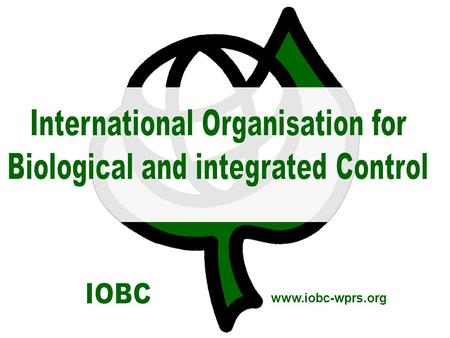 Www.iobc-wprs.org. © IOBC WPRS, www.iobc-wprs.org2 IOBC promotes research, development and implementation of biological control and integrated pest management.