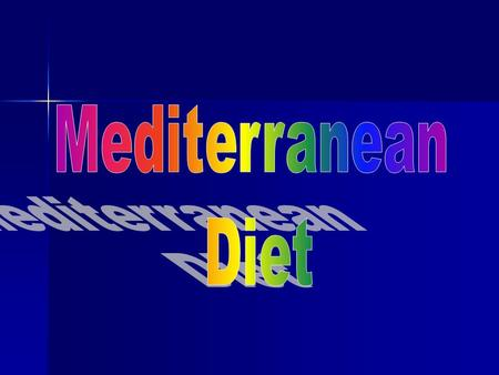 It's an idealization of some dietary patterns in the Mediterranean countries. It's an idealization of some dietary patterns in the Mediterranean countries.