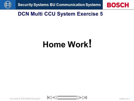 DCN Multi CCU System Exercise 5