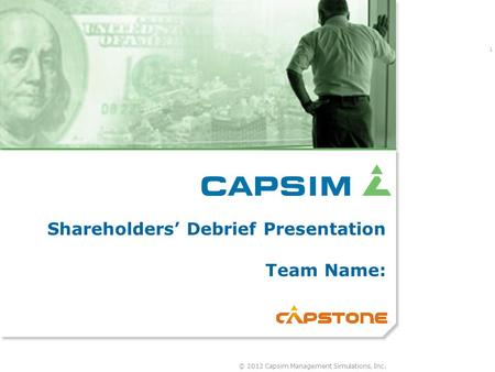 Shareholder s report for capsim