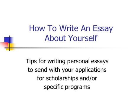 How to write an introduction about yourself examples