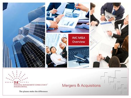 IMC M&A Overview. IMC – The pluses make the difference 2 IMC Business Lines.