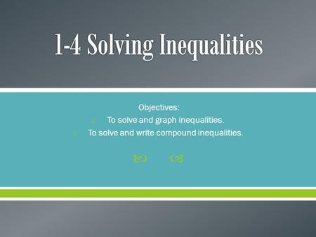 6th Grade Inequalities and Equations