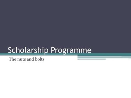 Scholarship Programme The nuts and bolts. About the Paper Three sections ▫Section A: Close Reading of Unfamiliar Texts Stylistic analysis of two pieces;