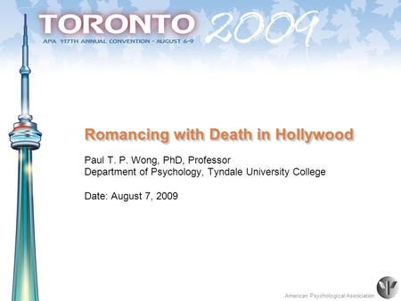 Romancing with Death in Hollywood