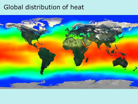 Global distribution of heat text. Spectra of incoming vs. outgoing radiation text.