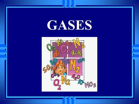GASES u The kinetic-molecular theory describes the behavior of IDEAL gases in terms of particles in motion. Real gases do not obey the kinetic molecular.