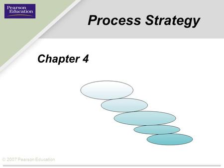 © 2007 Pearson Education Process Strategy Chapter 4.