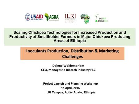 Inoculants Production, Distribution & Marketing Challenges