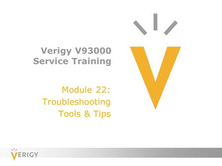 Verigy V93000 Service Training