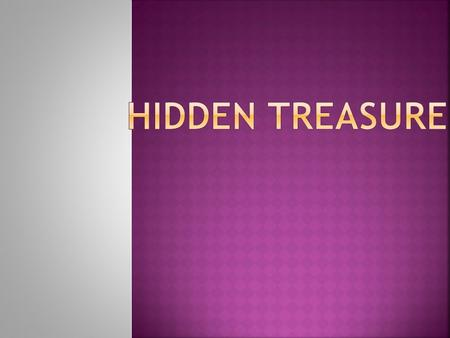 HIDDEN TREASURE.