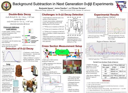 Background Subtraction in Next Generation 0  Experiments Double-Beta Decay Challenges in 0  Decay Detection Small 0νββ decay half-life leads to low.