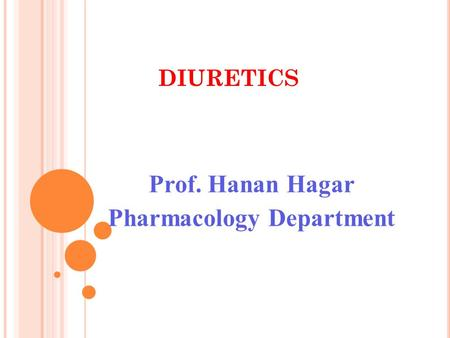 Prof. Hanan Hagar Pharmacology Department