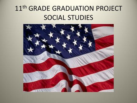 11 th GRADE GRADUATION PROJECT SOCIAL STUDIES. OCCUPATION RESEARCH.