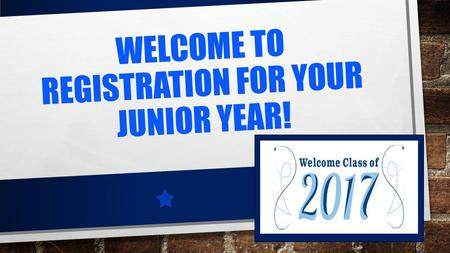 WELCOME TO REGISTRATION FOR YOUR JUNIOR YEAR!. WE ARE YOUR COUNSELORS Tom Cindy Tera Teddie WE ARE YOUR COUNSELORS TERA WALLACE A-FE TOM MARCHESCHI M-RA.