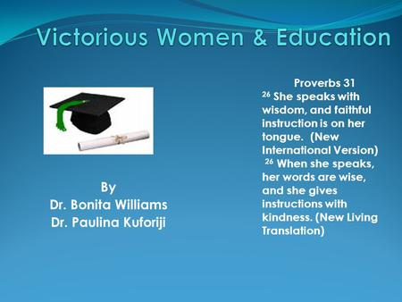 Victorious Women & Education