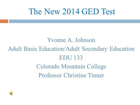 Adult basic education powerpoints