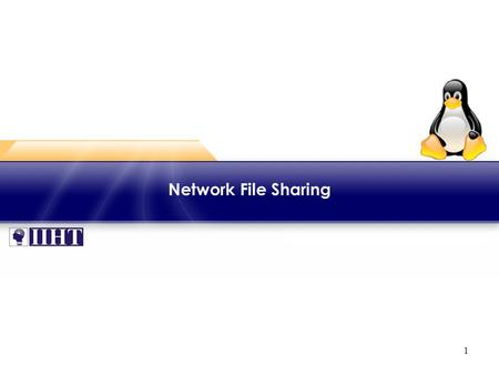1 Network File Sharing. 2 Module - Network File Sharing ♦ Overview This module focuses on configuring Network File System (NFS) for servers and clients.