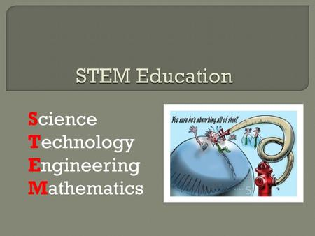 Science Technology Engineering Mathematics.  STEM education is influential in driving national economic growth & innovation  Every person depends on.