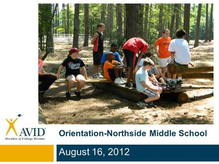 Orientation-Northside Middle School August 16, 2012.