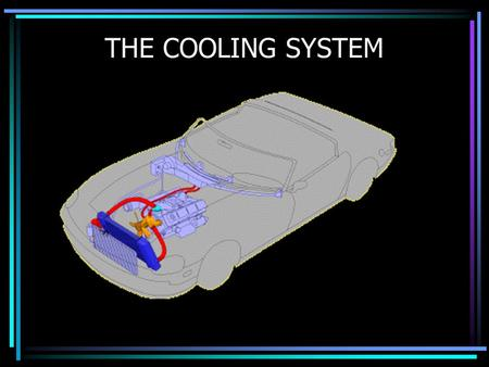 THE COOLING SYSTEM. Purpose To regulate the engines internal temperature To remove excess heat from the engine To provide heat to the passenger compartment.