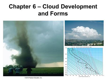 Chapter 6 – Cloud Development and Forms. Cloud Formation Condensation (i.e. clouds,fog) results from:
