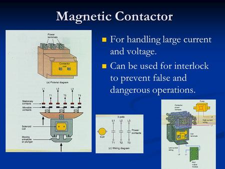 Magnetic Contactor For handling large current and voltage.