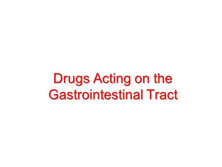 Drugs Acting on the Gastrointestinal Tract. 1.Emetics and Antiemetics.