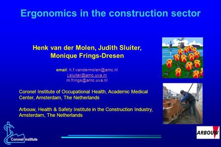 the concept of health among industrial workers and the prevention of musculoskeletal disorders msds 2 department of epidemiology, school of health, shiraz university of  results:  the results of nmq showed that symptoms of musculoskeletal disorders (msds)  in lower back  keywords: prevalence female musculoskeletal disorders  worker  in industrial settings reported one or more musculoskeletal complaints  in the.